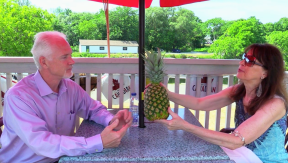 "Talk Show Launches : ""PATIO TALKS and pineapples"" Episode 1 : Mayor Shawn Pankow on Boom-Town"