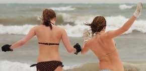 Boots, Bathrobes and Bikinis : It's Polar Plunge Time